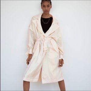NWOT. Zara Iridescent Trench Coat